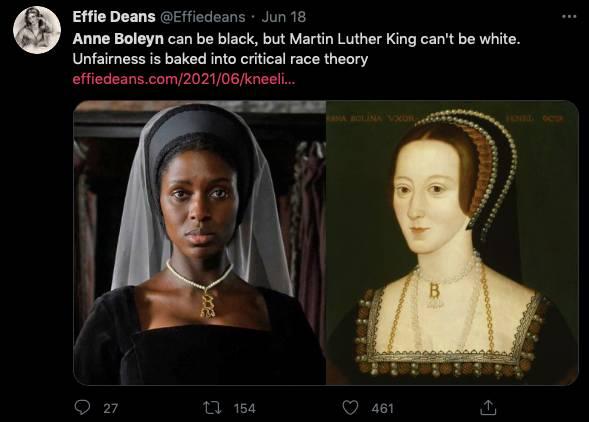 「安妮博林是個直、白女性,